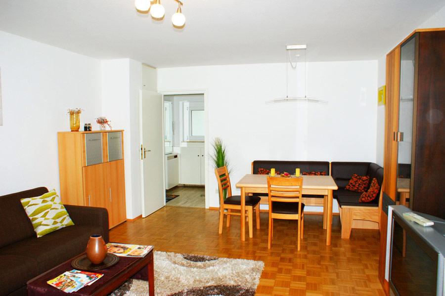 Ferienwohnung Hochzoll Nord Wohnzimmer