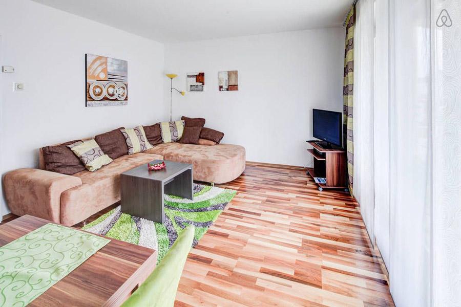 Ferienwohnung Hochzoll Süd Wohnzimmer